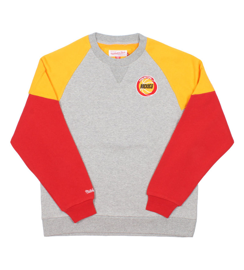 Rockets NBA Trading Block Crew (Red/Yellow/Grey)