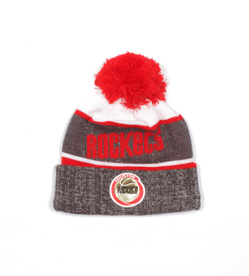 Houston Rockets Stripe Pom Knit (Grey/Red)