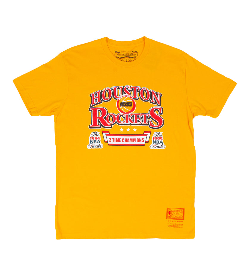 Houston Rockets Back to Back Tee (Yellow)