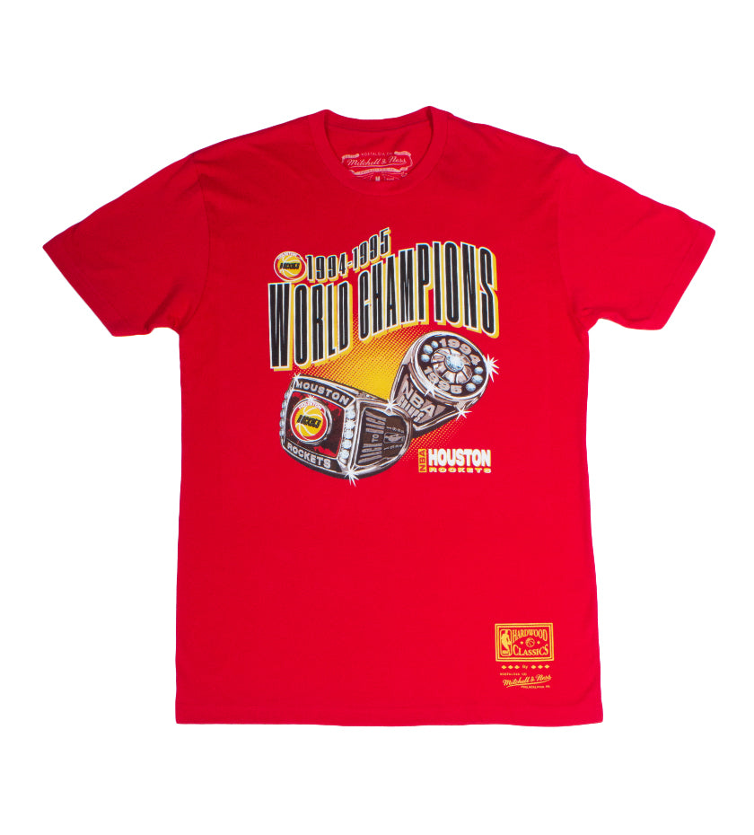 Houston Rockets 94-95 World Champions Tee (Red)