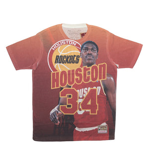 Houston Rockets City Pride N&N Hakeem Olajuwon S/S Tee (Red)