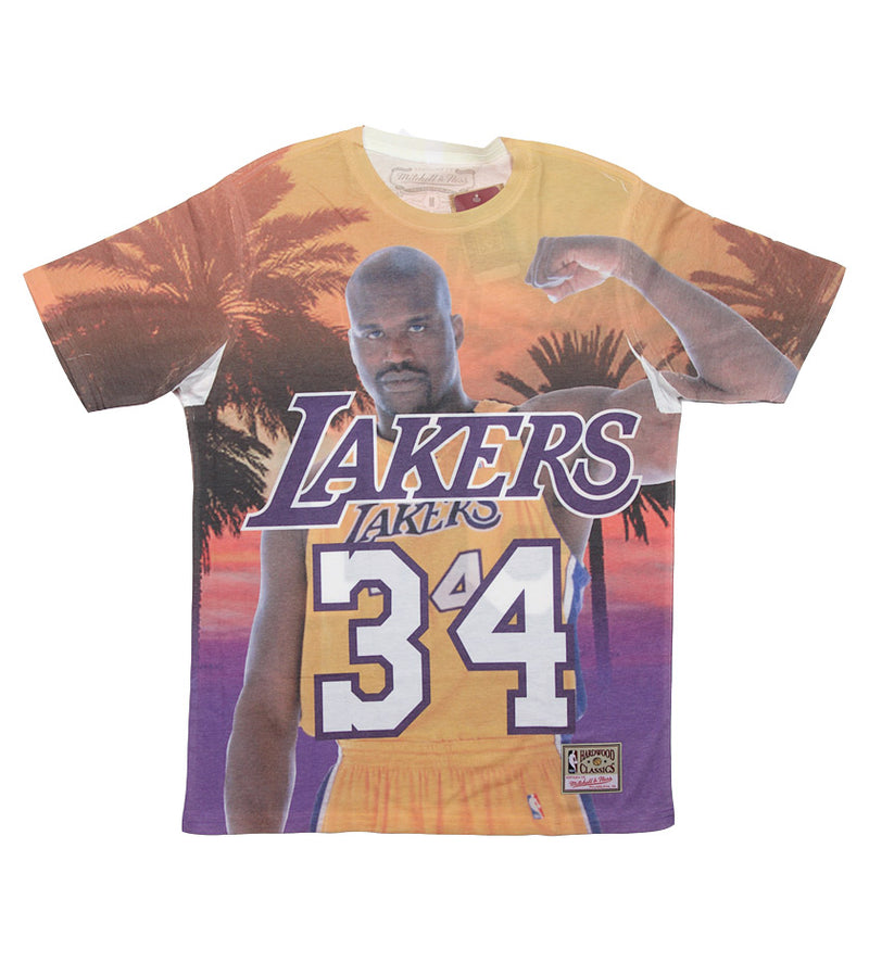 Los Angeles Lakers City Pride N&N Shaquille O'Neal S/S Tee (Purple)