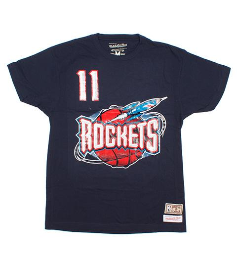 Yao Ming Houston Rockets Name & Number Classic Throwback Tee (Navy)