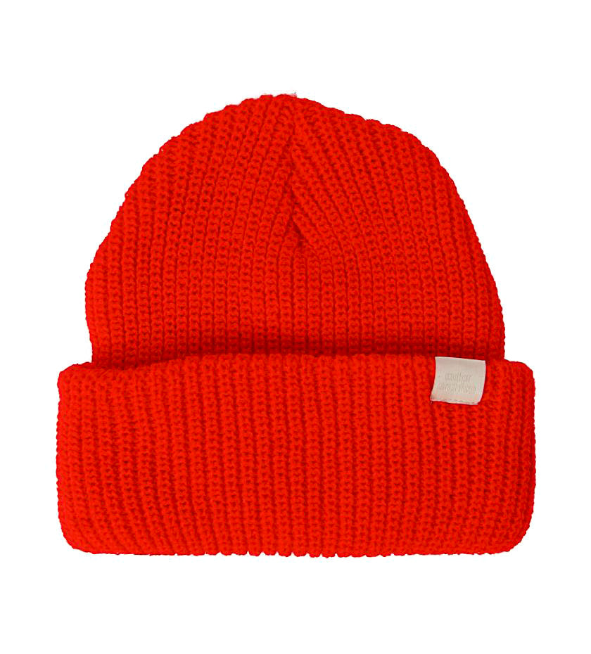 Color Archive Essential Beanie (Bright Red)