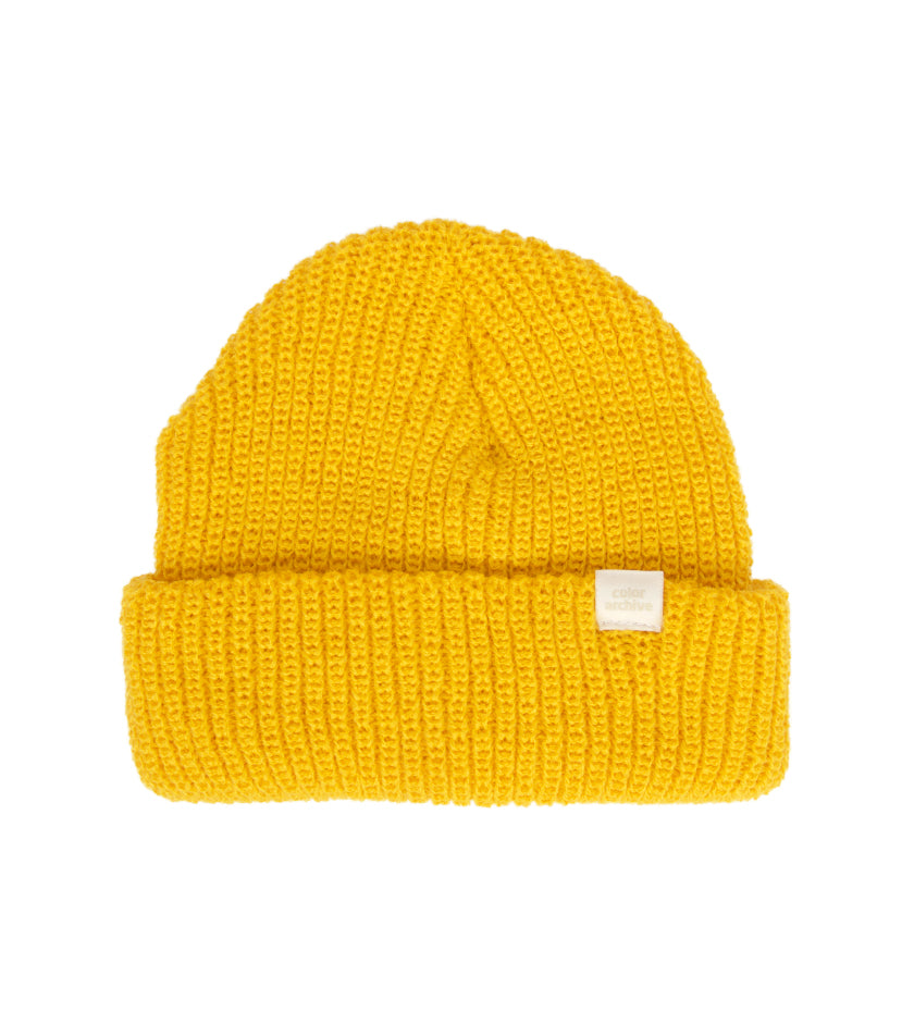 Color Archive Essential Beanie (Mustard Yellow)