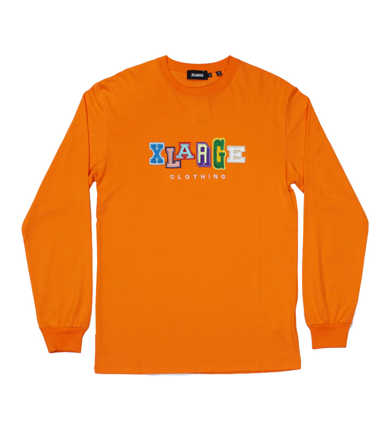 College Logo Multi L/S Tee (Orange)