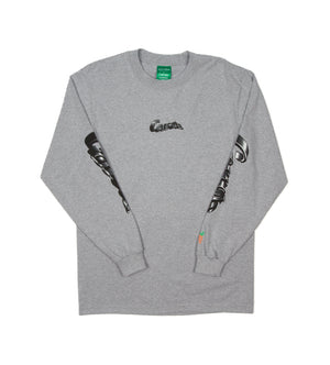 Warped L/S Tee (Grey)
