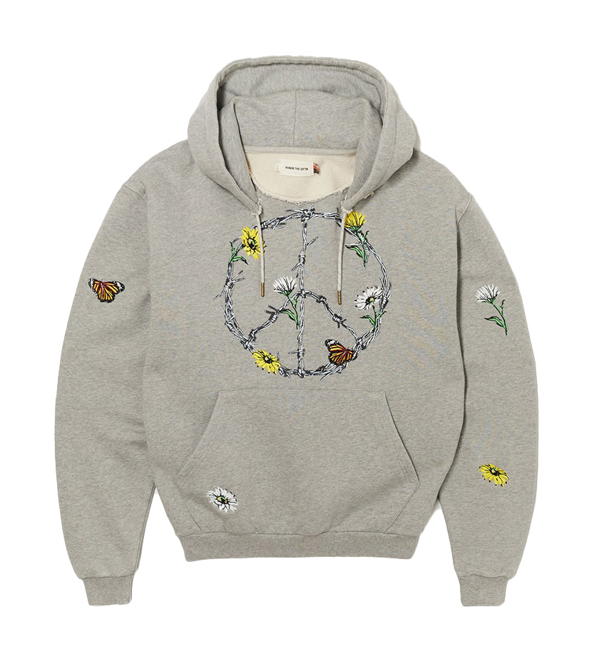 Iron Peace Hoodie (Athletic Grey)