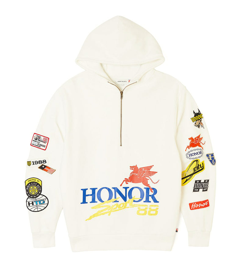 Honor Decal Hoodie (Off White)