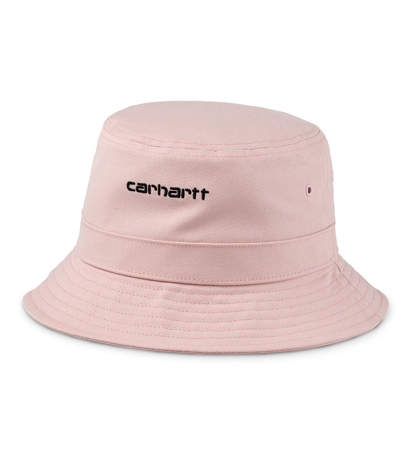 Script Bucket Hat (Frosted Pink / Black)