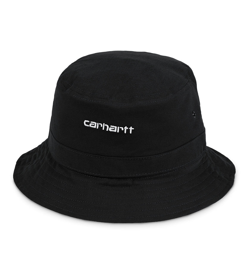 Script Bucket Hat (Black / White)
