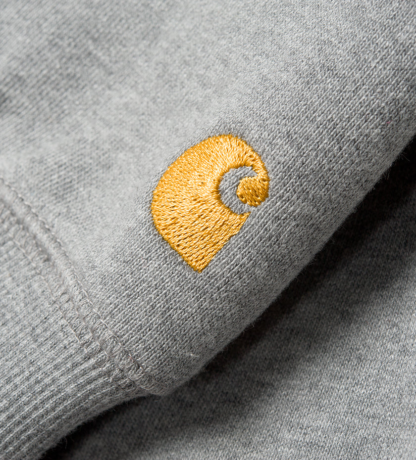Hooded Chase Sweat (Grey Heather / Gold)