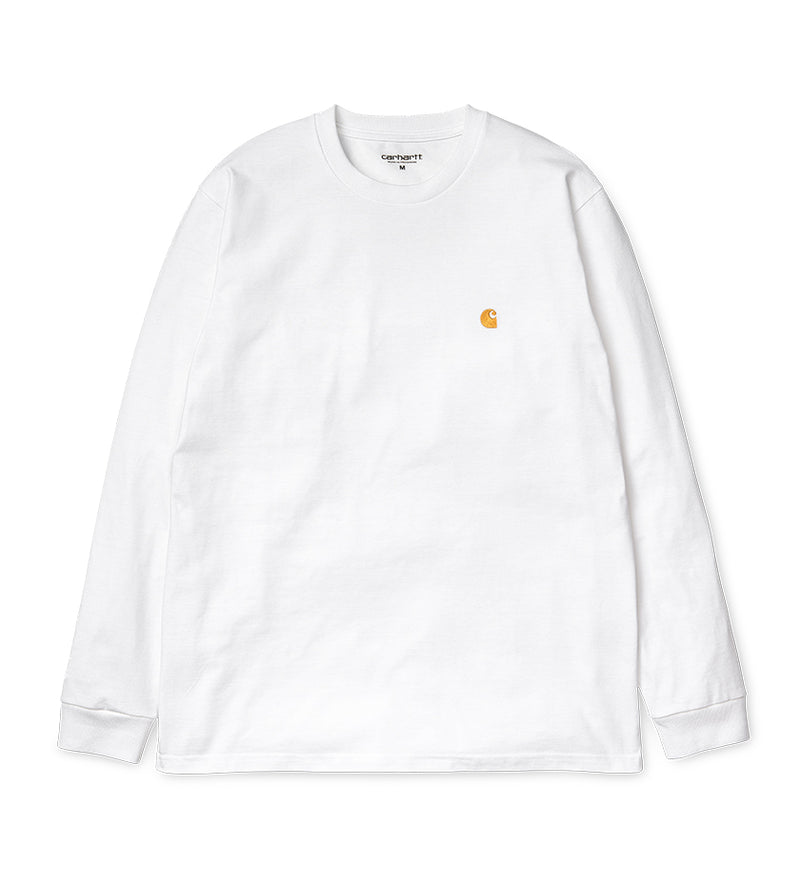 L/S Chase T-Shirt (White / Gold)