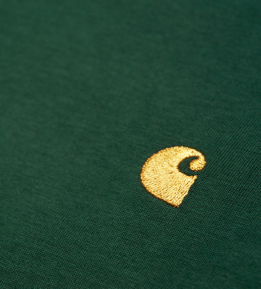 L/S Chase T-Shirt (Bottle Green / Gold)