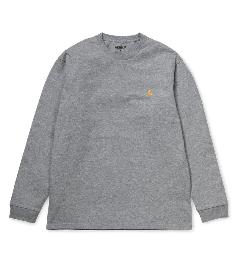 L/S Chase T-Shirt (Grey Heather / Gold)