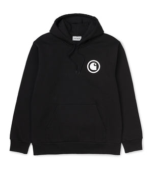 Hooded Protect Sweatshirt (Black / White)