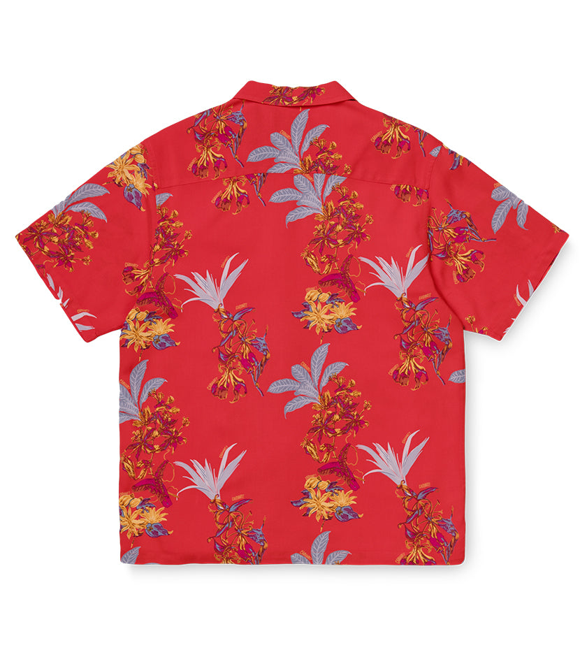 Hawaiian Floral Shirt (Red)