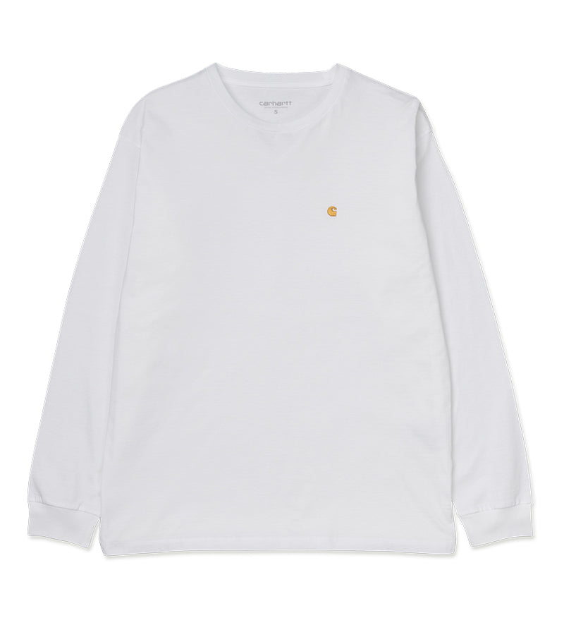 Women's L/S Chasy T-Shirt (White / Gold)