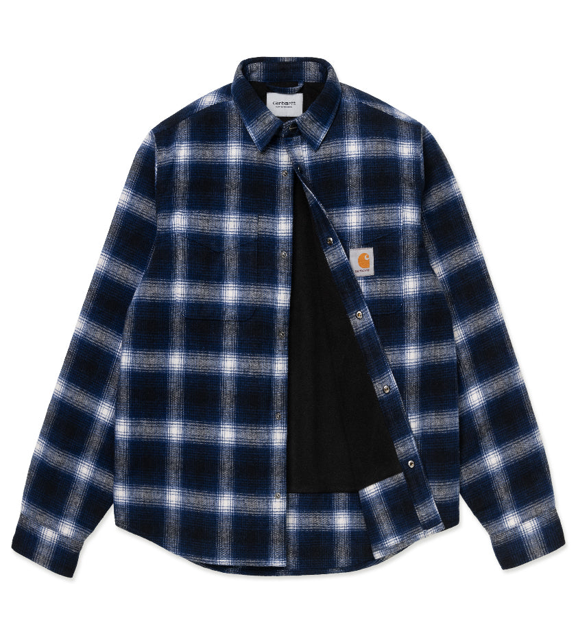 Lashley Check Shirt Jacket (Dark Navy)