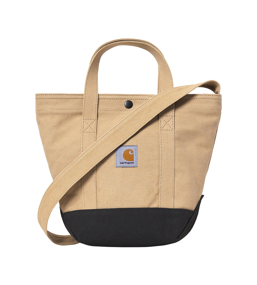 Canvas Small Tote Bag (Dusty Hamilton Brown / Black)