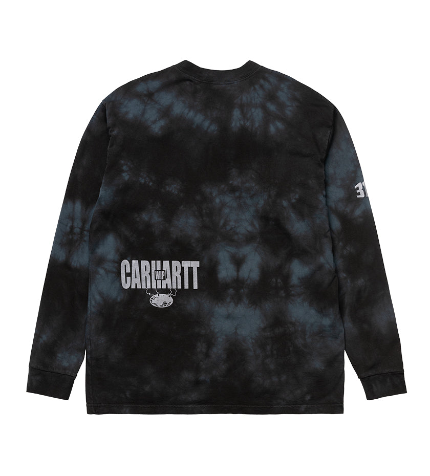 L/S Tab T-Shirt (Black / White Chromo)