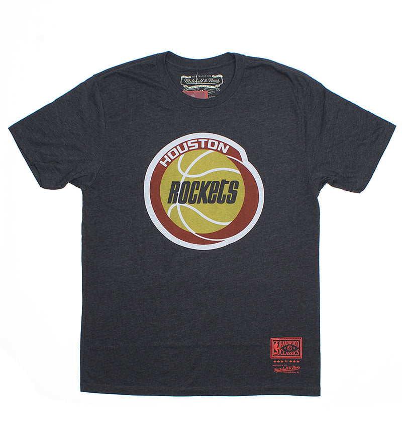 Houston Rockets Pushed Logo S/S Tee (Dark Grey Heather)