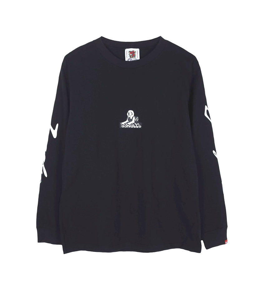 Multi Logo L/S Tee (Washed Black)