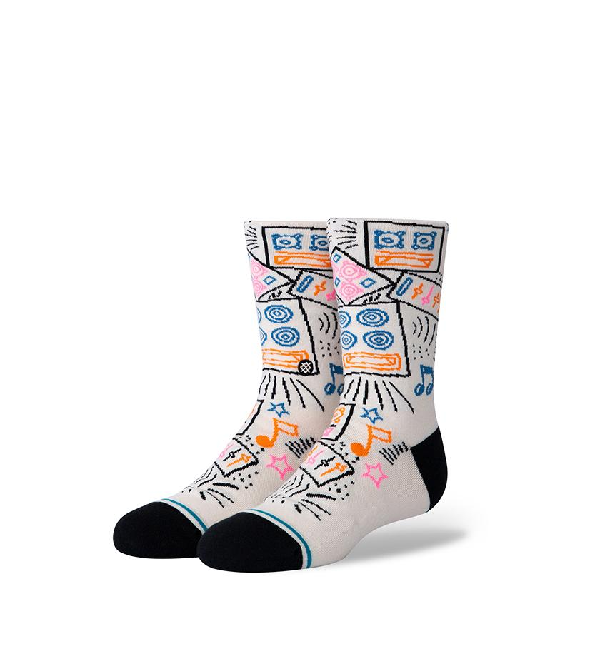 Boom Box Kids Socks (Cream)