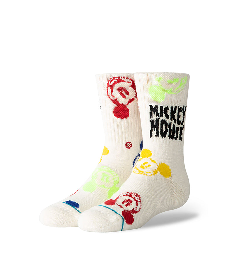 Multi Mickey Kids Socks (White)