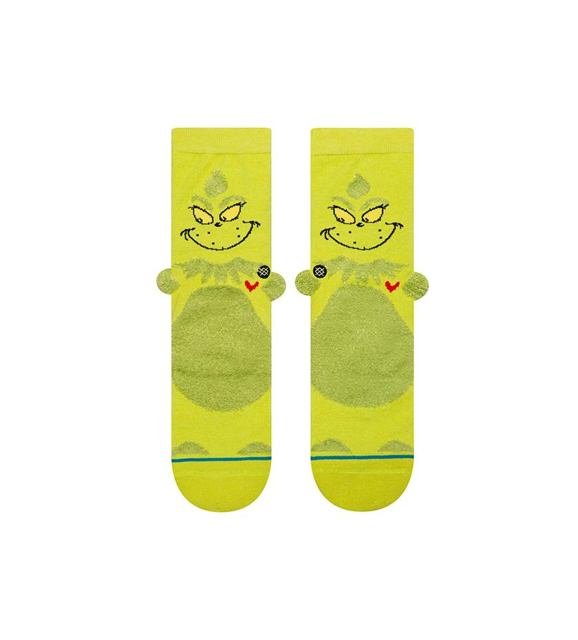 3D Grinch Kids Socks (Green)