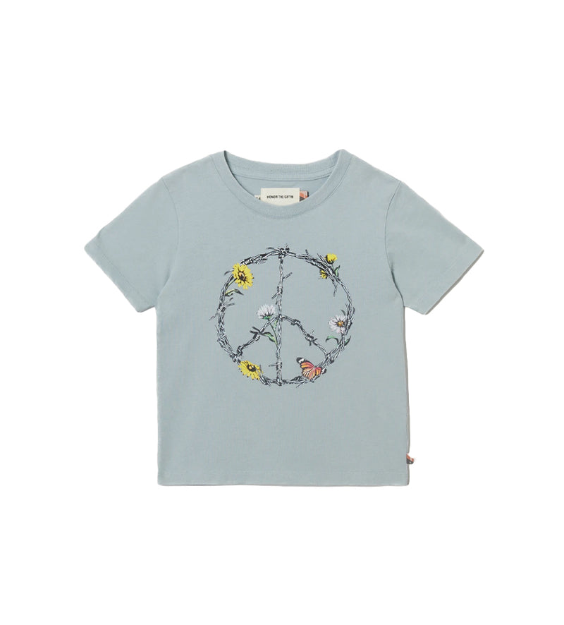 Iron Peace Kids S/S Tee (Sky Blue)