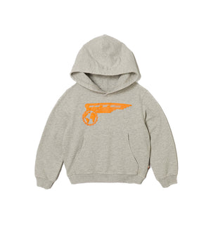 Airborne Kids Hoodie (Athletic Grey)