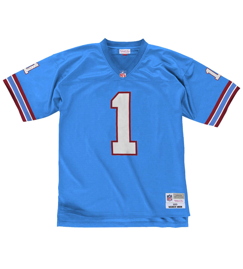 Warren Moon 1993 Houston Oilers NFL Legacy Jersey (Columbia Blue)