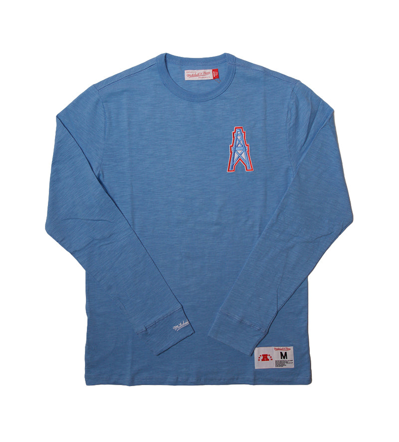 Houston Oilers Slub Knit Long Sleeve (Light Blue)