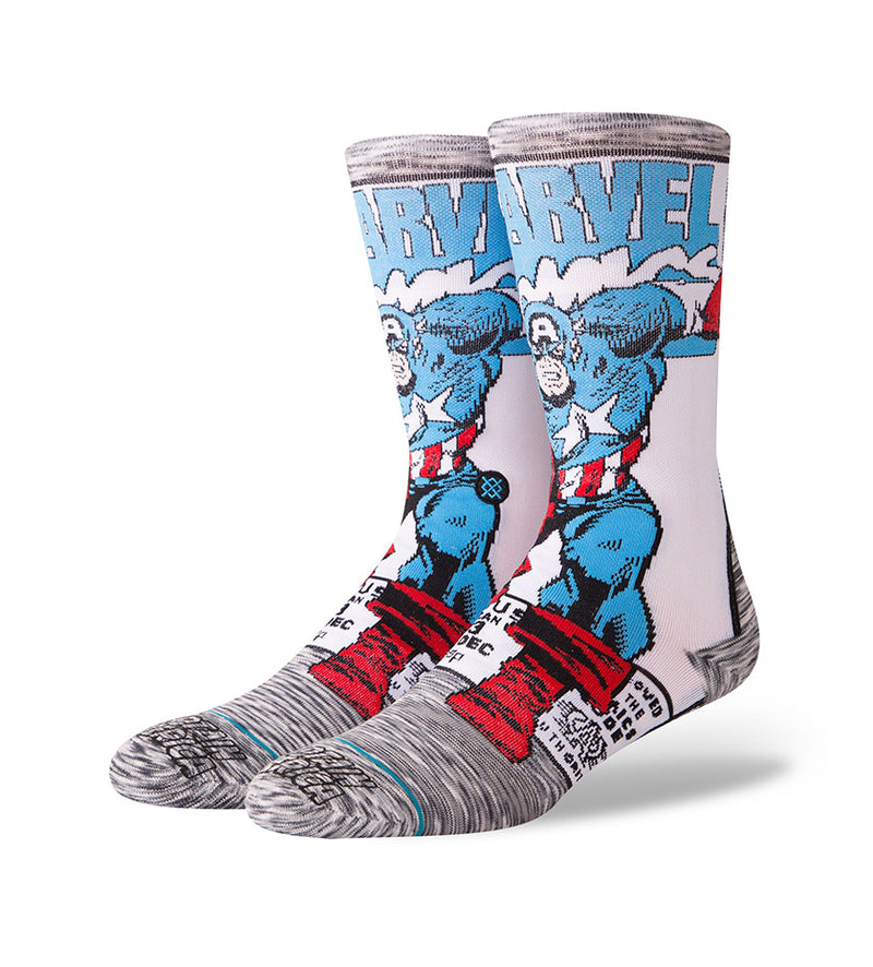 Captain America Comic Socks