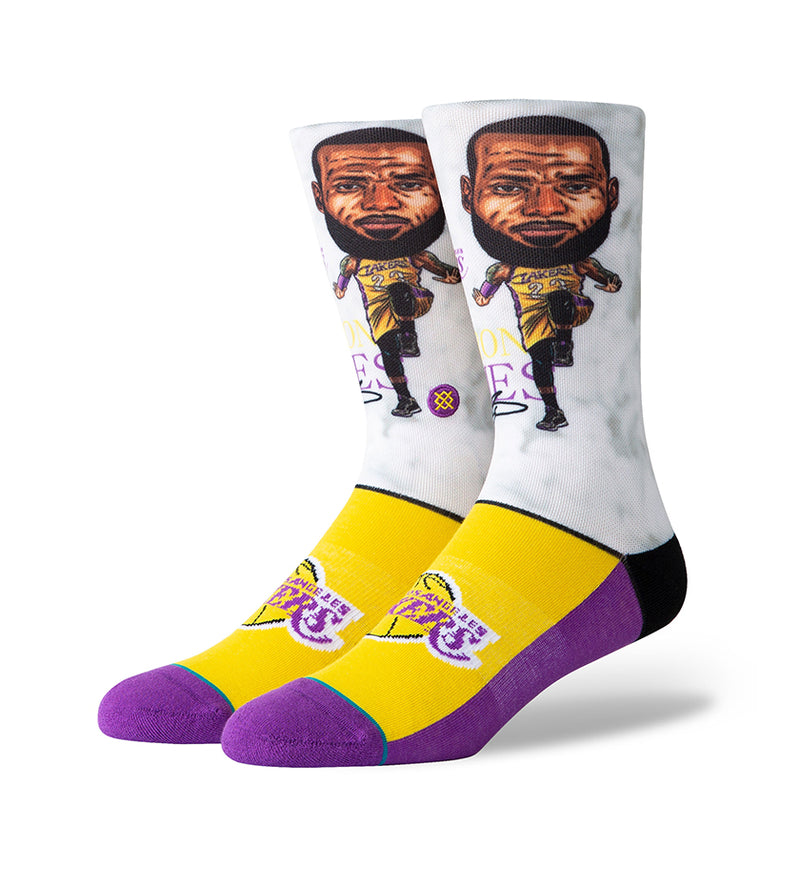 Lebron Big Head Socks