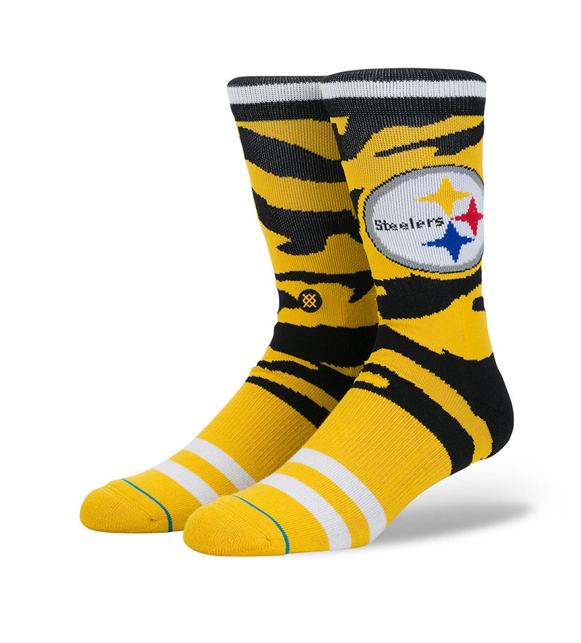 Steelers Tigerstripe Socks