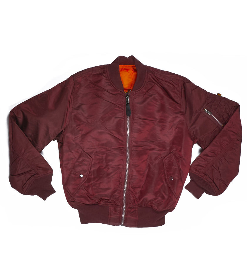 Alpha MA-1 Flight Jacket (Maroon)