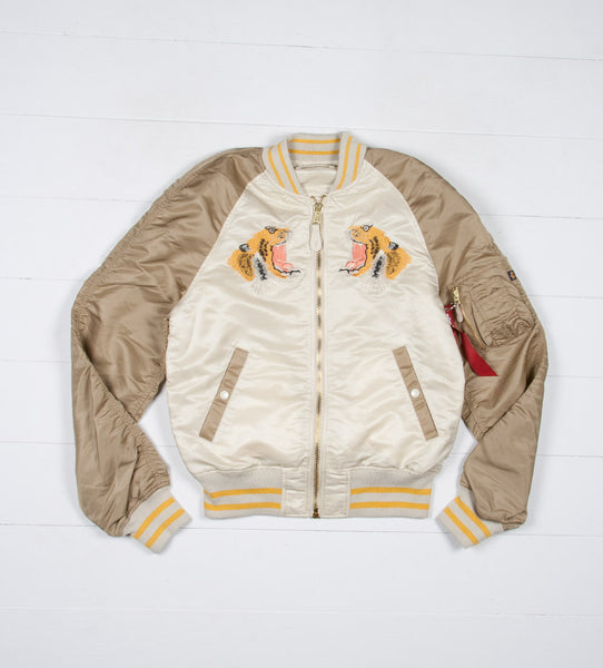 L-2B Tiger Souvenir Flight Jacket (Vintage White)