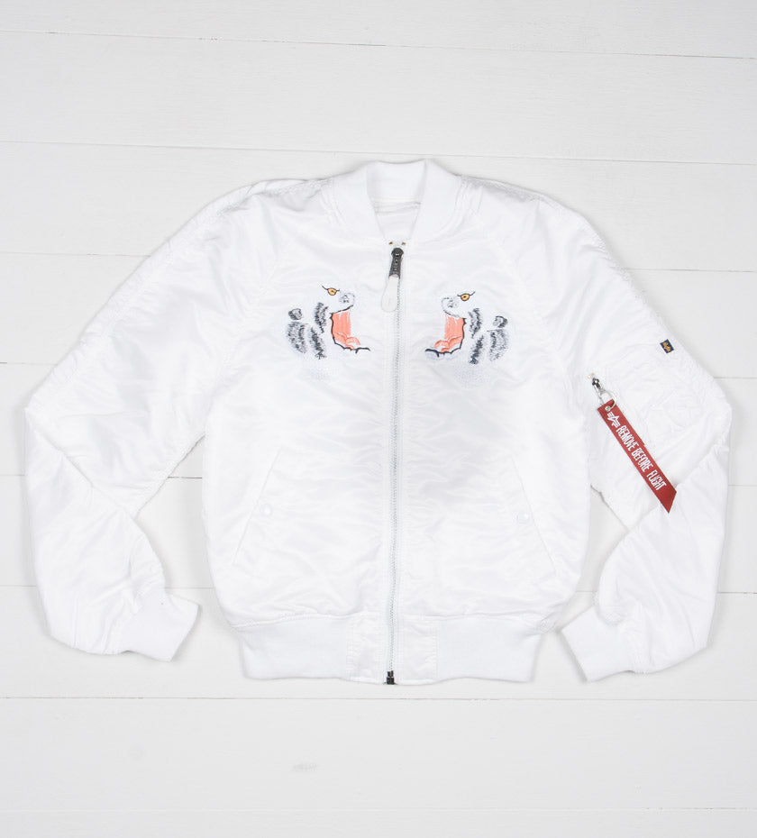 Tiger Souvenir Jacket (White)