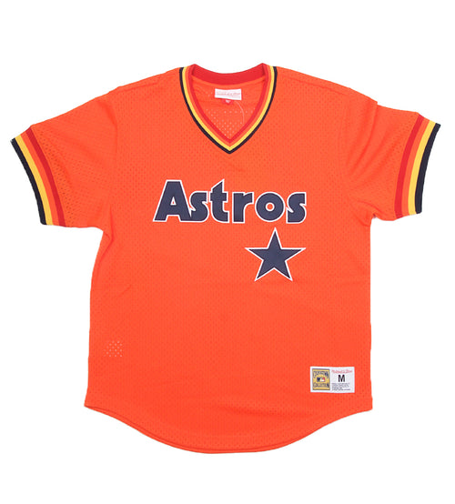 f1e6fba4 Astros Authentic MLB Mesh V-Neck (Orange)
