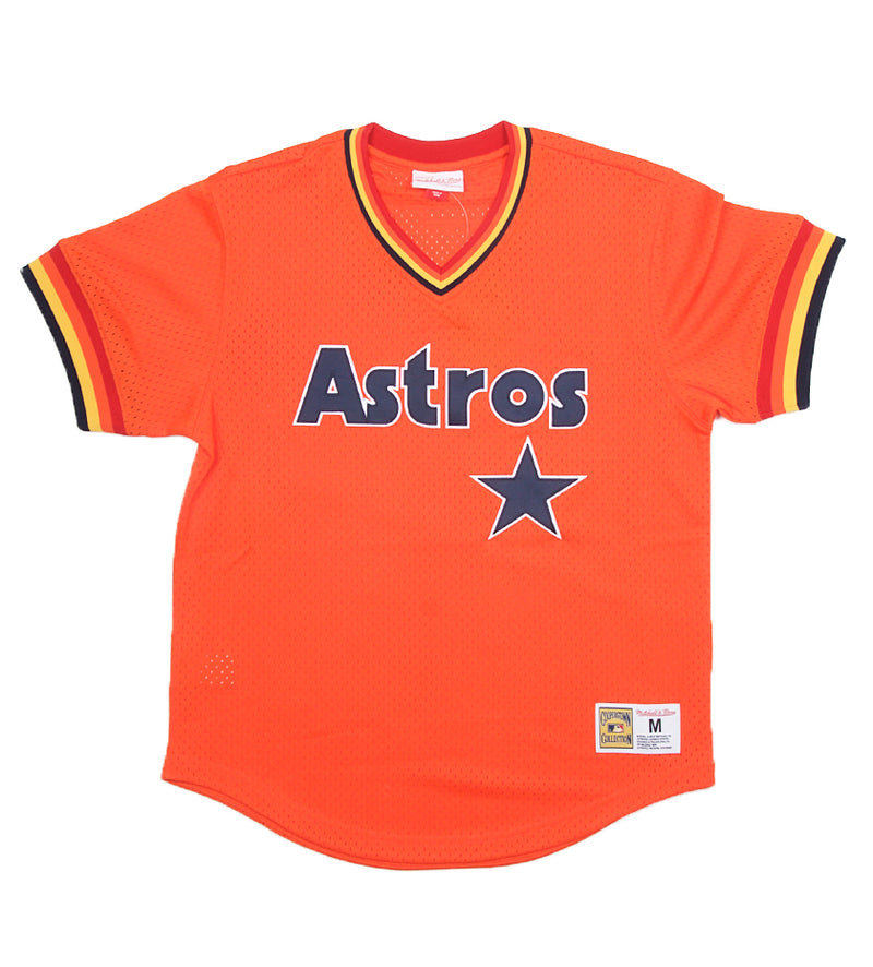 Astros Authentic MLB Mesh V-Neck (Orange)