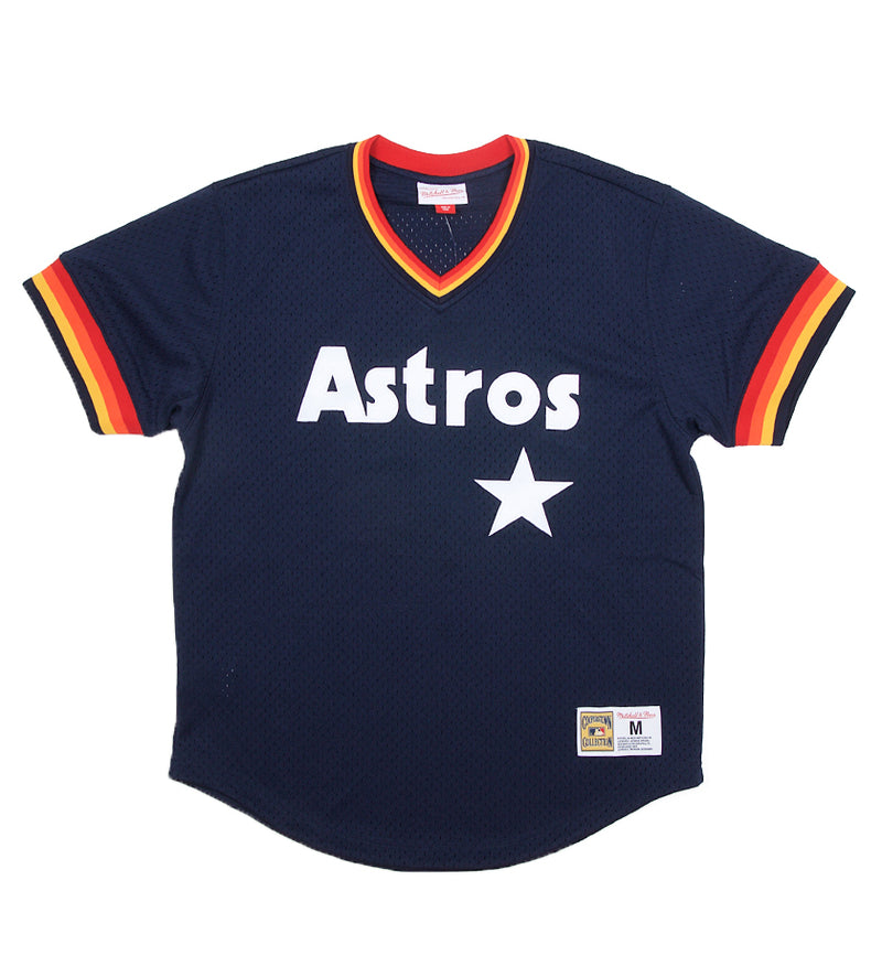 Astros MLB Mesh V-Neck (Navy)