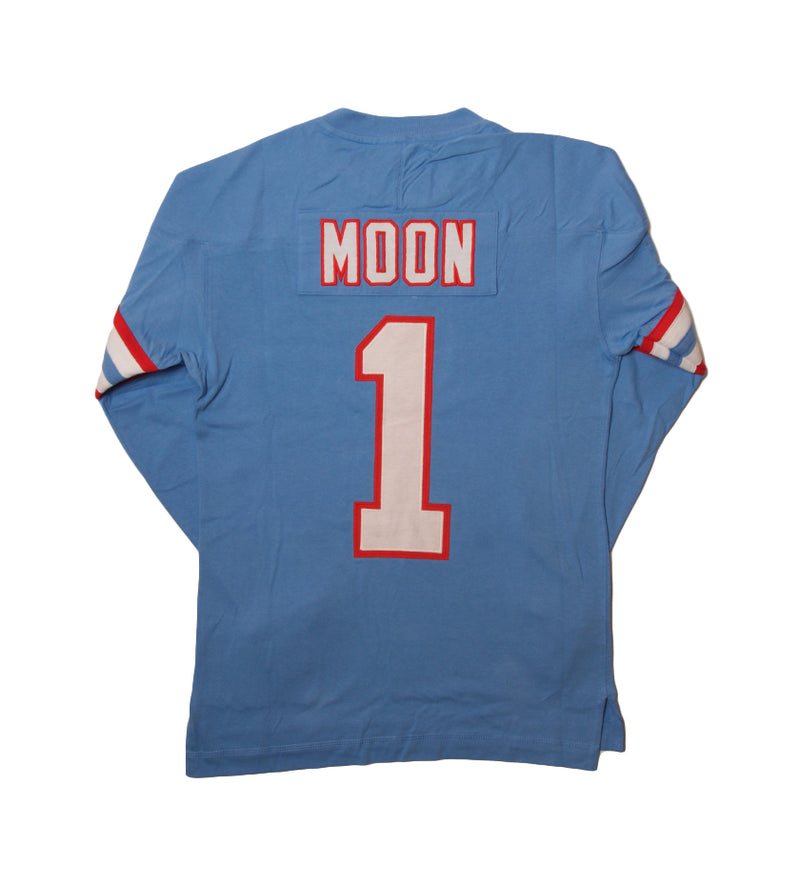 Name & Number Longsleeve Houston Oilers Warren Moon (Light Blue)