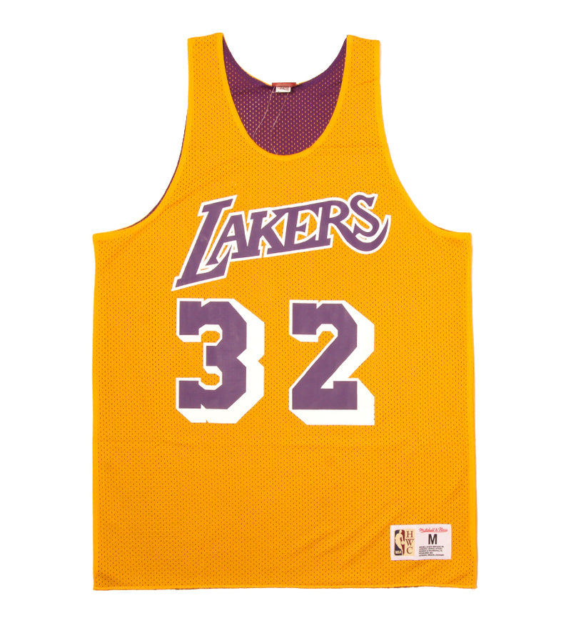 Lakers 1984 Magic Johnson Reversible Mesh Tank (Light Gold/Purple)