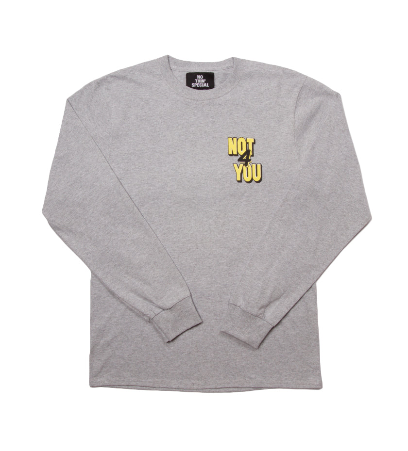 Not For You L/S Tee (Heather Grey)