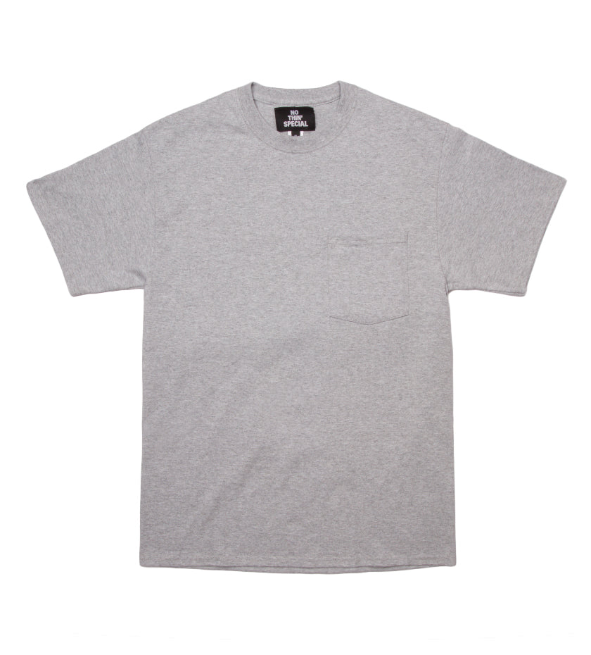 Sunset Pocket Tee (Heather Grey)