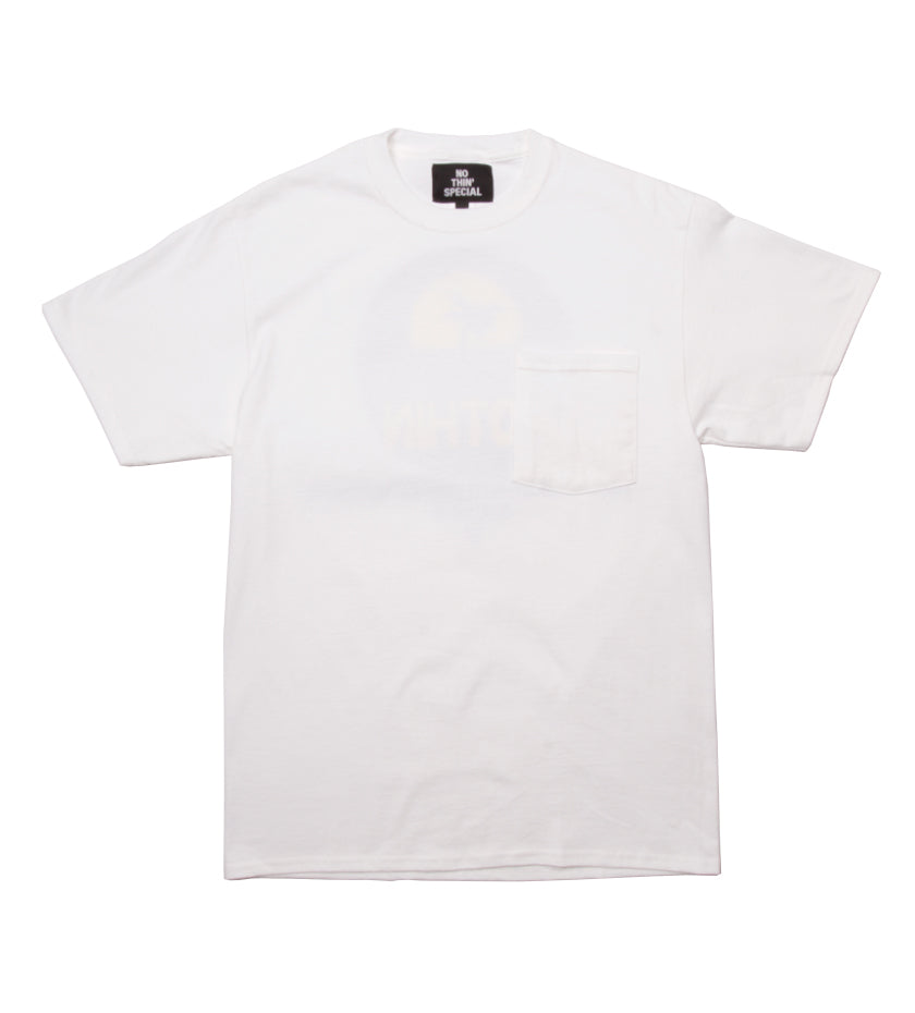 Sunset Pocket Tee (White)