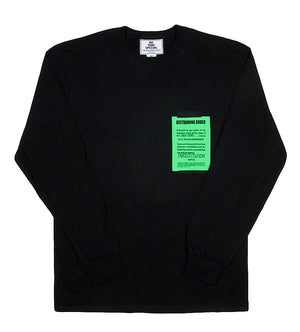 Happy Ending L/S Tee (Black)