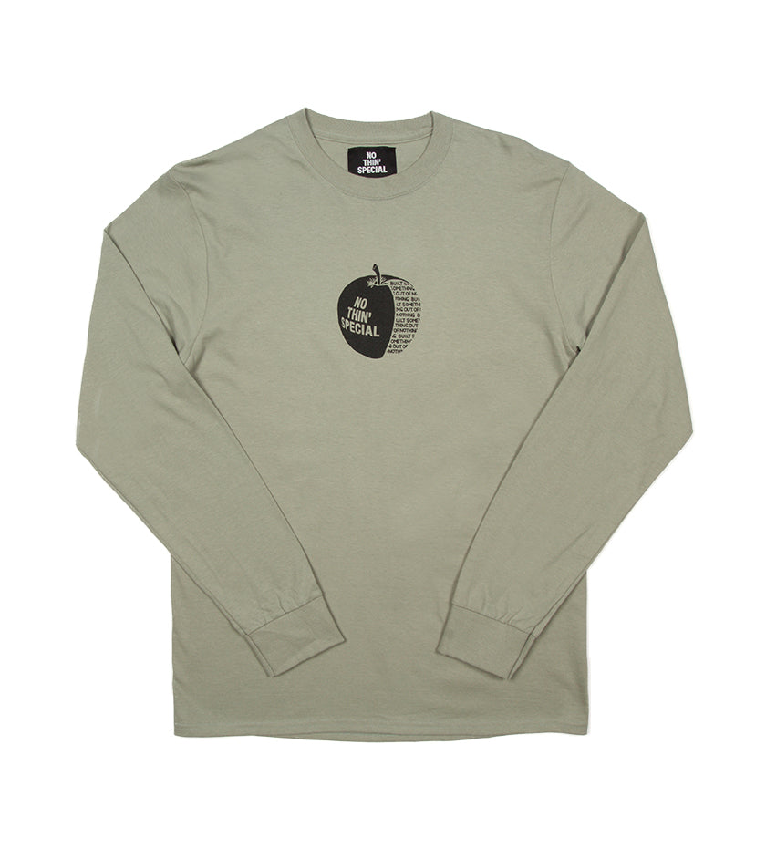 Apple L/S Tee (Stonewashed Green)